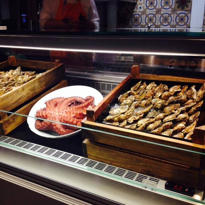 Pulpo y ostras en Platea